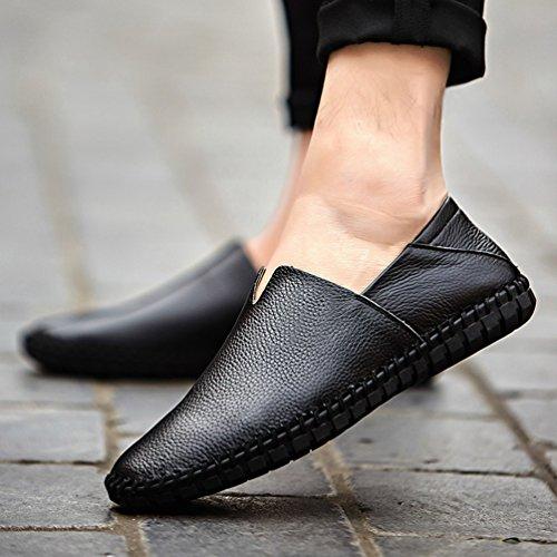 Negocio Zapatos Casual Zapatos Moda Loafer Negro Cómodos Planos Mocasines Hombre Dooxi Z0w7O6H7