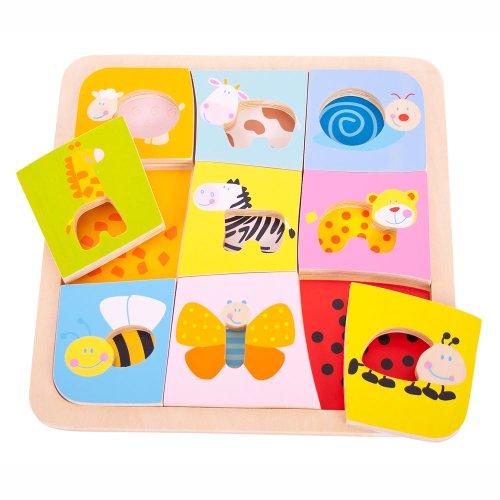 Bigjigs Toys BJ509 Animal Patterns Puzzle