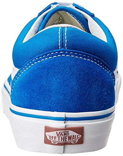 true Vans Old White canvas Skool suede Blue Blue Suede Imperial Canvas azad4rx
