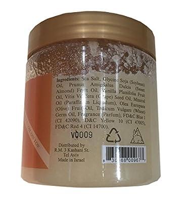 Dead Sea Salt Scrub With Almond Vanilla Oil 23.3 ounce
