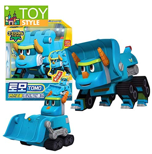 (Gogo Dino Dinosaur Explorer Transformation Robot Tomo Anime Character Child Transformation Toy 4.7 x 3.3 x 5.1 inches)