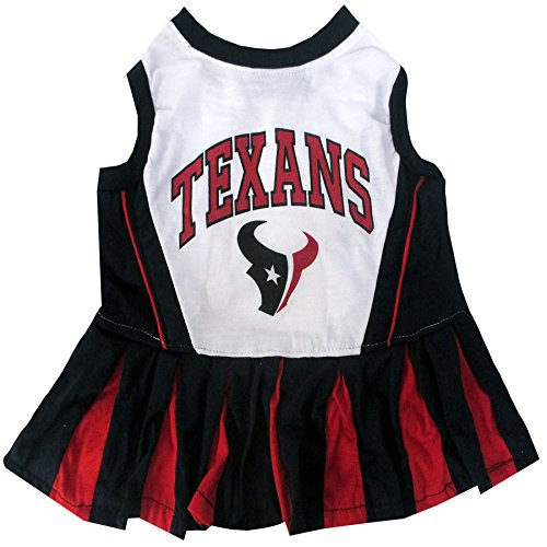 Pets First NFL Houston Texans Cheerleader Dress, X-Small