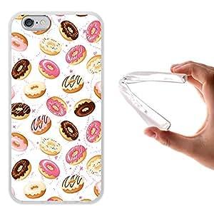 WoowCase - Funda Gel Flexible { iPhone 6 6S } Donuts Carcasa Case Silicona TPU Suave