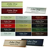 Personalized Name Plate Sign with Wall/Door Or Office Desk Holder - 2x12 - Customize - 24 Color Options