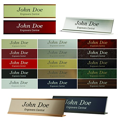 Wall Nameplate (Personalized Name Plate Sign With Wall/Door or Office Desk Holder - 2x10 - CUSTOMIZE - 24 Color Options)