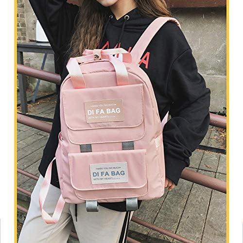 かわいい日本と韓国風の通学女子高校生、大学生、単純な森のバックパック旅行中学校の生徒のバックパックのトレンド人格 (Color : Pink)