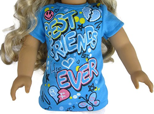 Blue BFF Best Friends Forever T-Shirt for 18