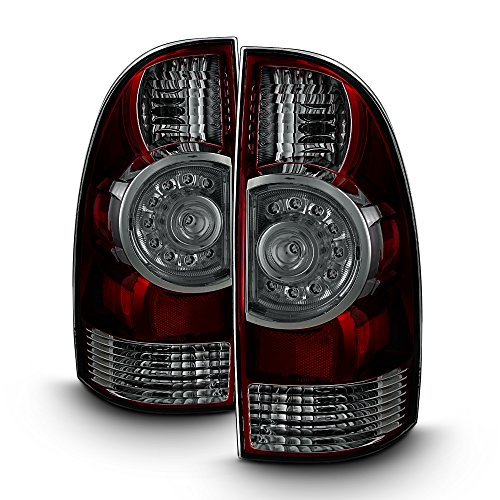 For Factory Style Black Smoked 2005-2015 Toyota Tacoma LED Pair Tail Lights Brake Lamps Replacement (Toyota Tacoma 2008 Tail Light)