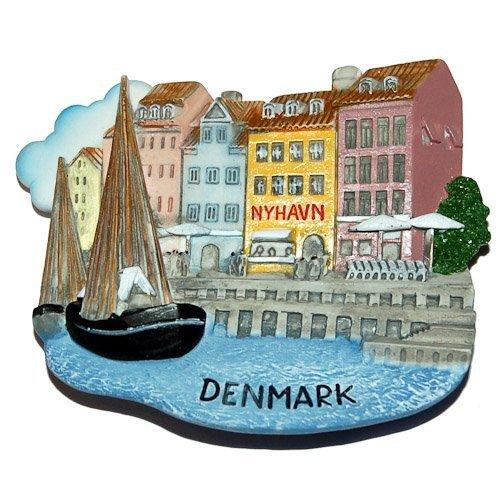 Clicks Magnets (Nyhavn Harbor Copenhagen Denmark, High Quality Resin 3d Fridge Magnet)