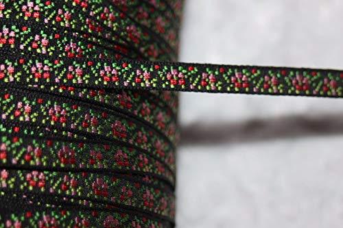 - Ribbon Art Craft Decoration 1 Yard Black Bubblegum Pink Ombre Jacquard Satin Woven Ribbon Trim 1/4