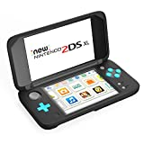 MoKo Nintendo New 2DS XL Silicone Case, Anti-slip Protective Cover Skins for Nintendo New 2DS XL/LL (2017) - Black