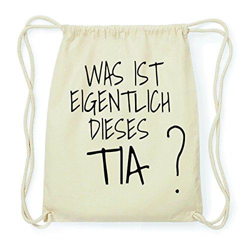 JOllify TIA Hipster Turnbeutel Tasche Rucksack aus Baumwolle - Farbe: natur Design: Was ist eigentlich