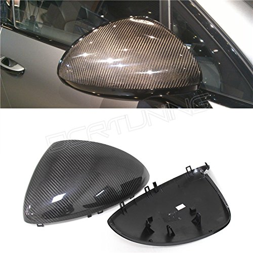 - Replacement Style For Porsche Cayenne 958 Carbon Fiber Mirror Cover For 2011 2012 2013 2014