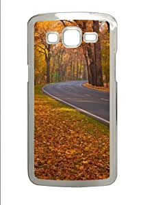 Samsung Grand 7106 Case and Cover -Trees Leaves Roads PC case Cover for Samsung Grand 2 and Samsung Grand 7106 Transparent