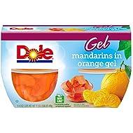 DOLE FRUIT BOWLS, Mandarins in Orange Flavored Gel, 4.3 Ounce (4 Cups)