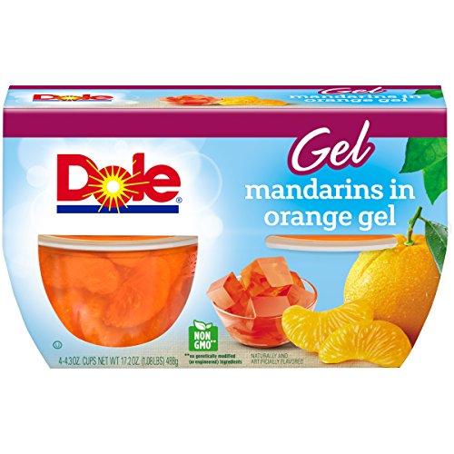 Dole Fruit Bowls, Mandarins in Orange Gel, 4 Cups by Dole Fruit