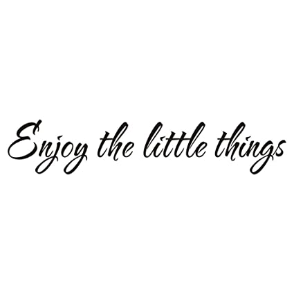 Amazoncom Iarttop Enjoy The Little Thing Wall Decal Positive