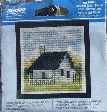 western ranch house cross stitch