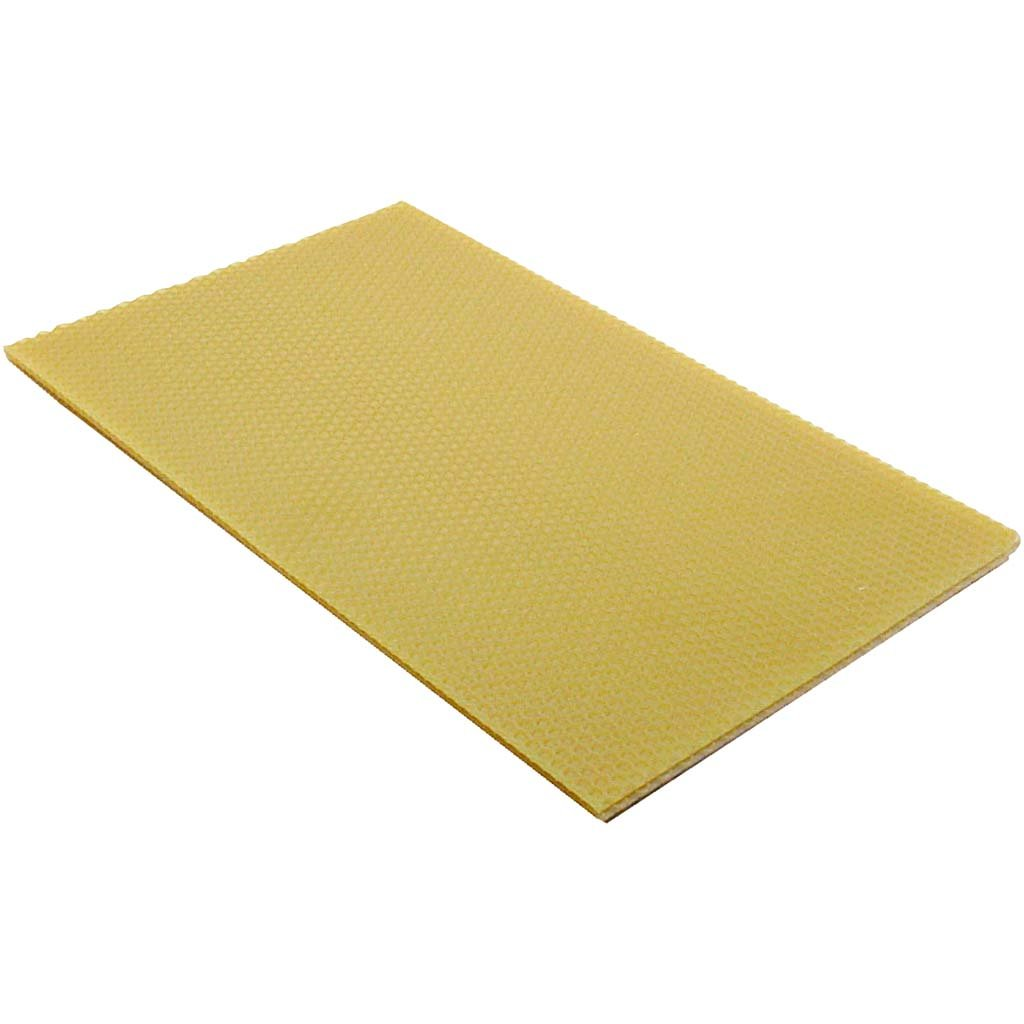 GeoFossils Beeswax sheets, size 20x33 cm, thickness 2 , 1 pc., Nature