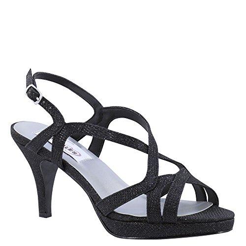 Touch Ups Women's Chloe Black Shimmer 7.5 M (Chloe Strappy Sandals)