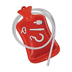 DMI Douche, Enema and Hot Water Bottle Combination, Red