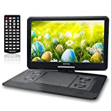 Electronics : 15.6 Inch Portable DVD Player for Car with Games Function for Kids, USB / SD Slot (Black)