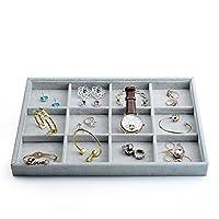 Oirlv Velvet Stackable Jewelry Display Trays Showcase Jewelry Organizer Storage Trays