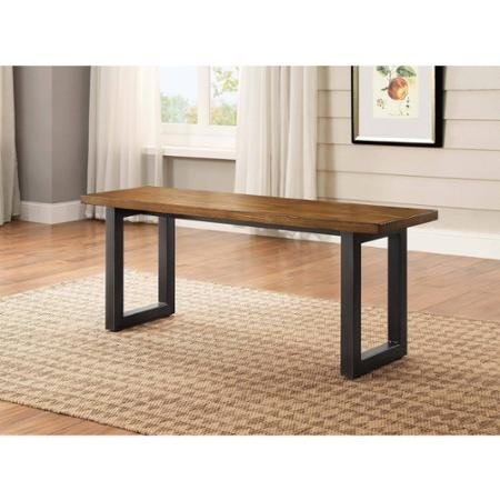 Stylish Modern Design Better Homes and Gardens Sturdy Metal Base Mercer Kitchen & Dining Room Table Dining Bench Multi-step Finish