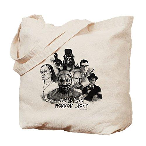 CafePress - American Horror Story Characters - Natural Canvas Tote Bag, Cloth Shopping - Hare O Shopping
