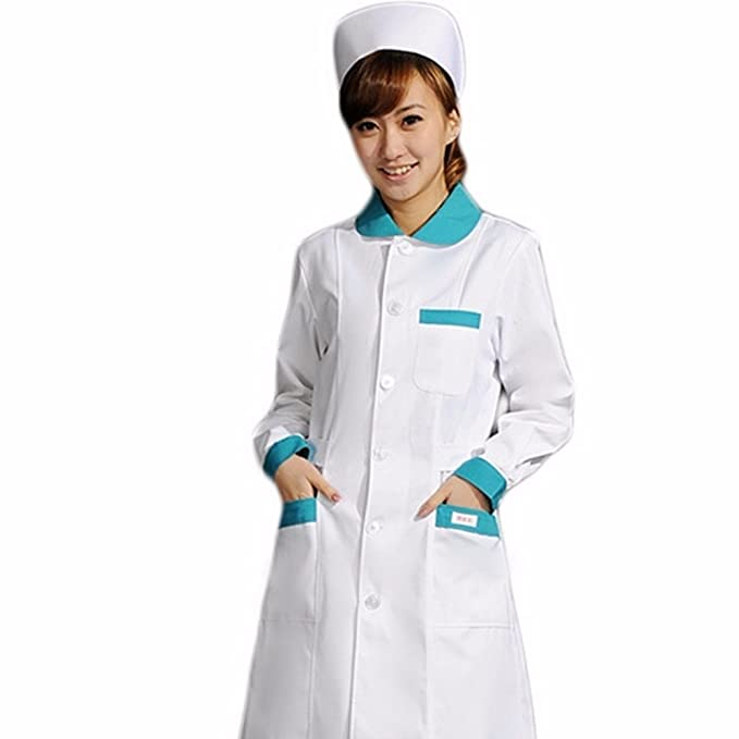 Xuanku Desgaste De La Enfermera, Manga Larga Farmacia, Peluquería, Salón De Belleza Suministros