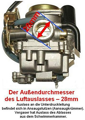 Unbranded VERGASER Auto Choke /& Z/ÜNDKERZE Satz f/ür SYM MIO 50