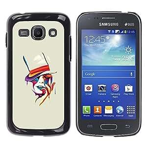 Sensual mujer del sombrero de copa Pintura Naranja- Metal de aluminio y de plástico duro Caja del teléfono - Negro - Samsung Galaxy Ace 3
