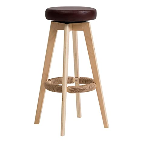 Miraculous Amazon Com Zhaoyongli Barstools Stools Solid Wood Bar Stool Machost Co Dining Chair Design Ideas Machostcouk
