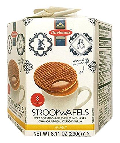 Daelmans Stroopwafels, Honey, 8.11 oz (8 Count Hexa Box)