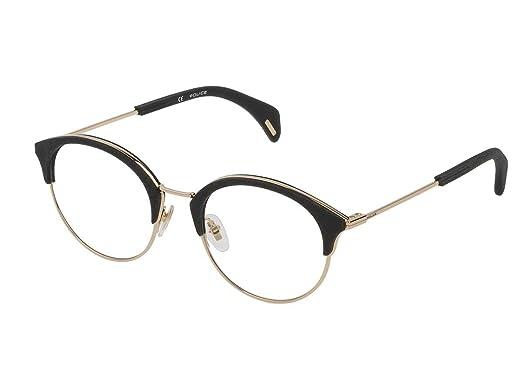 93f29ad02d4 Police - Monture de lunettes - Femme Or Noir  Amazon.fr  Vêtements ...