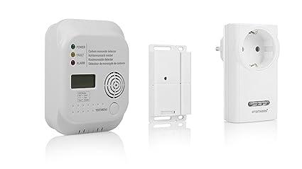 Smartwares FSE de 19240 DIW – Control con Detector de CO Monóxido de Carbono/Protección
