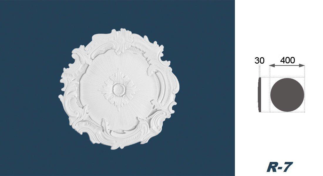 1 Rosette rosace murale arstyl int/érieur en polystyr/ène hauteur//r-7