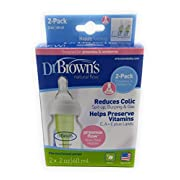 Dr. Brown's Natural Flow 2 Pack Bottles - 2 Oz Green