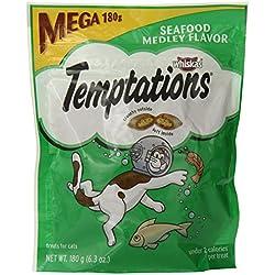 Whiskas Temptations Cat Treats (Seafood Medley Flavor) 6.3 oz