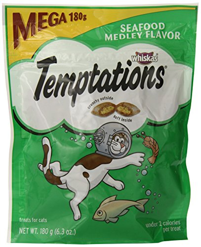 Whiskas Temptations Cat Treats (Seafood Medley Flavor) 6.3 oz