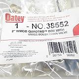Oatey 38552 2-Inch Copper Sweat Standard Pack Brass Boiler Drain Valves