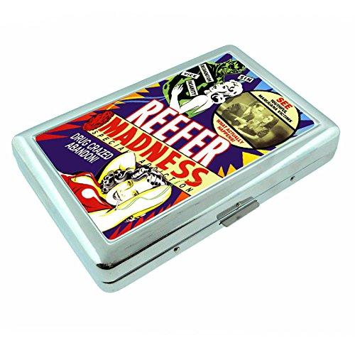 - Reefer Madness Vintage Poster Silver Cigarette Case S5 Metal Wallet Id Holder 4