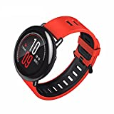 Autoday Bluetooth Smart Watch Amazfit Xiaomi 1.34 inches Round Touch Screen GPS + GLONASS Water-resistant Smartwatch Sleep/Heart Rate /Calories/Speed Monitor Pace Sports Watch (Ship From US) (Red)