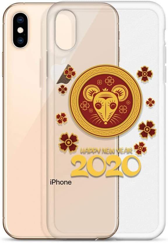 Compatible for iPhone Xs Max Cases 2020 Happy New Year Gold Mouse Zodiac TET Vietnam Eve Anti Bumps Scratches