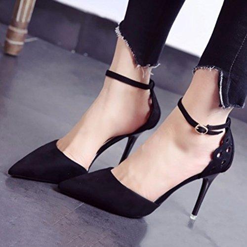 Style Romain Sunny Profond Amende Et 4351 De Chaussure Talon Automne Mesdames Hauts Talons Bouche Black Peu Printemps Xxwq1Hwf