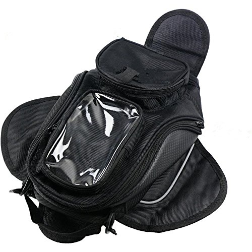 (New Black Oil Fuel Tank Bag Magnetic Motorcycle Motorbike Oil Fuel Tank Bag saddle Bag Bigger Window Moto)