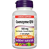 Webber Naturals Coenzyme Q10 High Potency Antioxidant Softgel, 100mg
