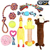 LOVEKONG Dog Chew Toy Set, Best Dog Chew Toys for Aggressive Chewers Teeth Cleaning Variety Pet Toys for Small and Medium Dogs with 10 Value Pack