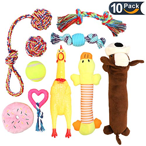 LOVEKONG Dog Chew Toy Set, Best Dog Chew Toys for Aggressive