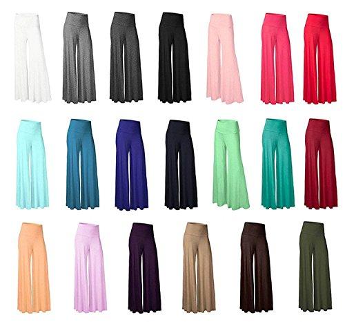 Accogliente Pantalone High Eleganti Pantaloni Donna Palazzo Larghi Rot Moda Waist Colori Gonna Libero Tempo Grazioso Lungo Yoga Baggy Solidi fwqgR66x